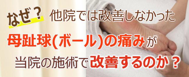 なぜ?他院では改善しなかった母趾球(ボール)の痛み が当院の施術で改善するのか?