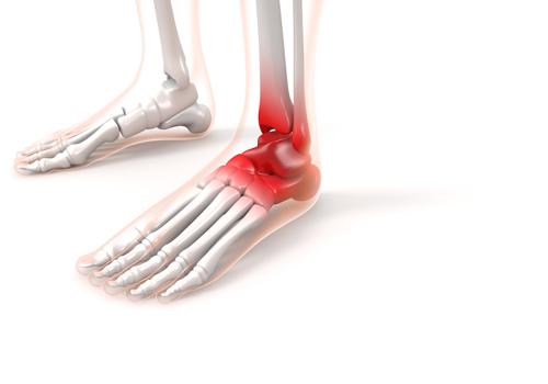 足首の前面の痛み